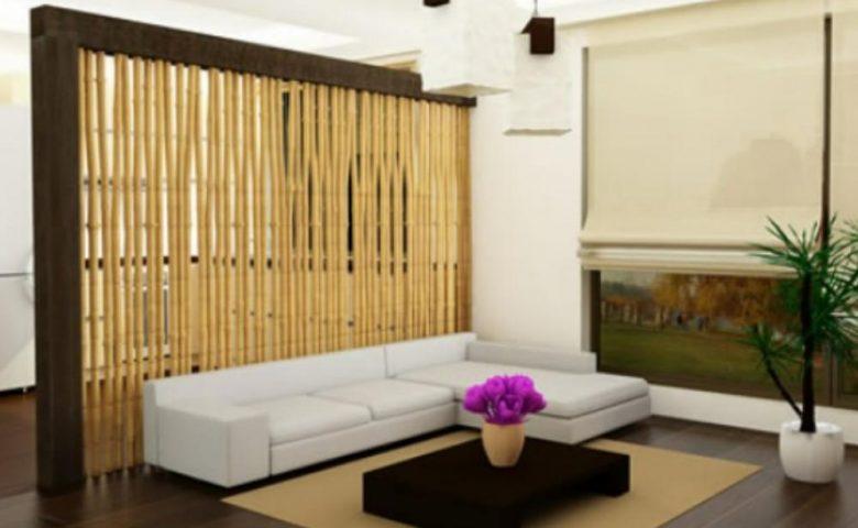 Sekat Ruangan Dari Bambu Berukuran Kecil